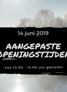 Vrijdag 14 juni gesloten tussen 10.00 en 14.00 uur